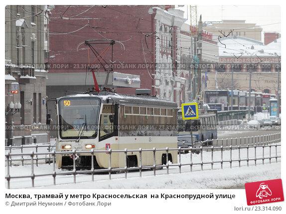 Маршрут трамвая 39 на карте Москвы