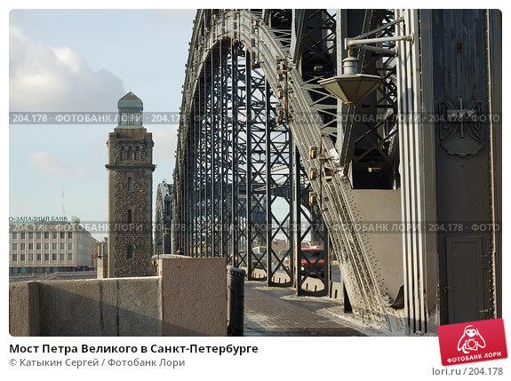Мост Петра Великого в Санкт-Петербурге, фото № 204178, снято 16 февраля 2008 г. (c) Катыкин Сергей / Фотобанк Лори