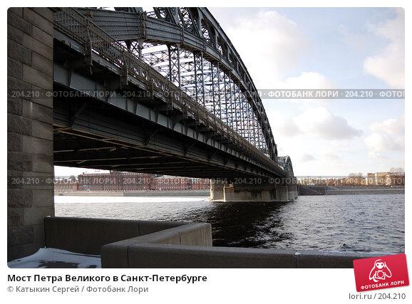 Купить «Мост Петра Великого в Санкт-Петербурге», фото № 204210, снято 16 февраля 2008 г. (c) Катыкин Сергей / Фотобанк Лори
