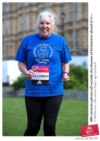 Купить «MPs attend a photocall outside the Houses of Parlament ahead of the 2017 Virgin Money London Marathon, London Featuring: Amanda Solloway Where: London...», фото № 28930770, снято 18 апреля 2017 г. (c) age Fotostock / Фотобанк Лори