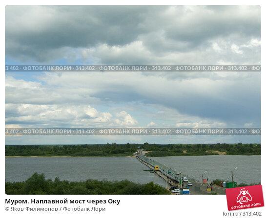 Купить «Муром. Наплавной мост через Оку», фото № 313402, снято 30 мая 2008 г. (c) Яков Филимонов / Фотобанк Лори