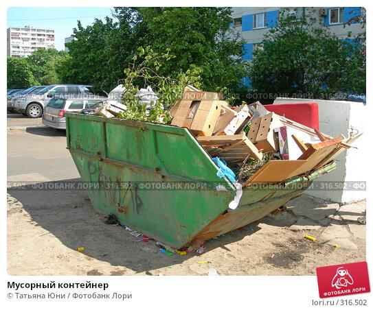 Купить «Мусорный контейнер», эксклюзивное фото № 316502, снято 9 июня 2008 г. (c) Татьяна Юни / Фотобанк Лори