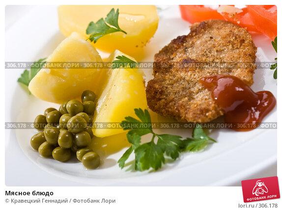 Мясное блюдо, фото № 306178, снято 18 сентября 2005 г. (c) Кравецкий Геннадий / Фотобанк Лори