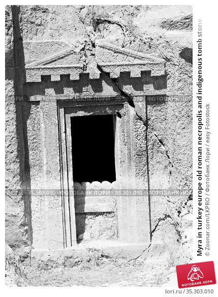 Myra in turkey europe old roman necropolis and indigenous tomb stone. Стоковое фото, фотограф Zoonar.com/LKPRO / easy Fotostock / Фотобанк Лори