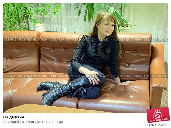 Купить «На диване», фото № 188442, снято 21 марта 2018 г. (c) Андрей Соколов / Фотобанк Лори