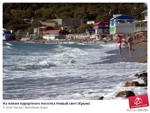 На пляже курортного поселка Новый свет (Крым), фото № 209050, снято 17 сентября 2006 г. (c) Олег Титов / Фотобанк Лори