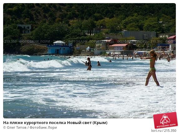 На пляже курортного поселка Новый свет (Крым), фото № 215350, снято 17 сентября 2006 г. (c) Олег Титов / Фотобанк Лори