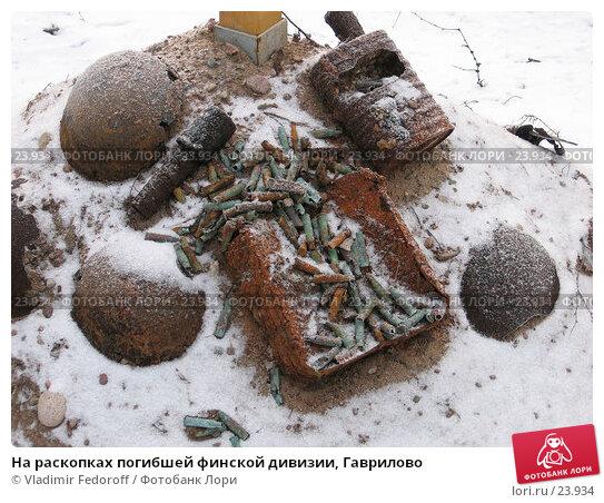 Купить «На раскопках погибшей финской дивизии, Гаврилово», фото № 23934, снято 21 января 2007 г. (c) Vladimir Fedoroff / Фотобанк Лори