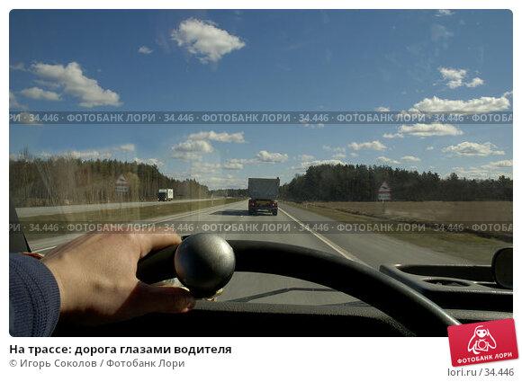 На трассе: дорога глазами водителя, фото № 34446, снято 27 июля 2017 г. (c) Игорь Соколов / Фотобанк Лори
