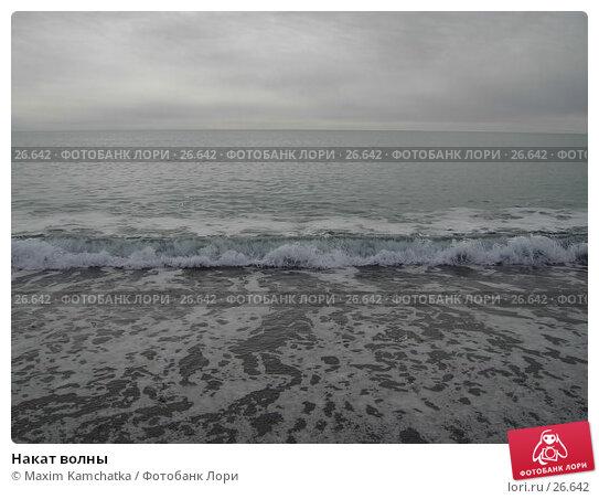 Купить «Накат волны», фото № 26642, снято 24 марта 2007 г. (c) Maxim Kamchatka / Фотобанк Лори