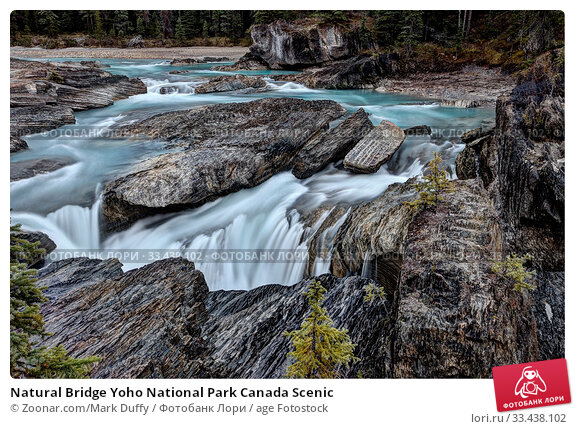 Купить «Natural Bridge Yoho National Park Canada Scenic», фото № 33438102, снято 8 апреля 2020 г. (c) age Fotostock / Фотобанк Лори