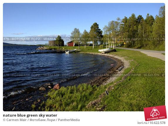 nature blue green sky water. Стоковое фото, фотограф Carmen Mair / PantherMedia / Фотобанк Лори