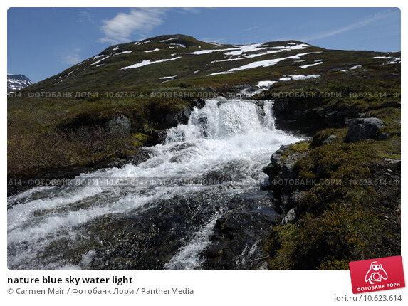nature blue sky water light. Стоковое фото, фотограф Carmen Mair / PantherMedia / Фотобанк Лори