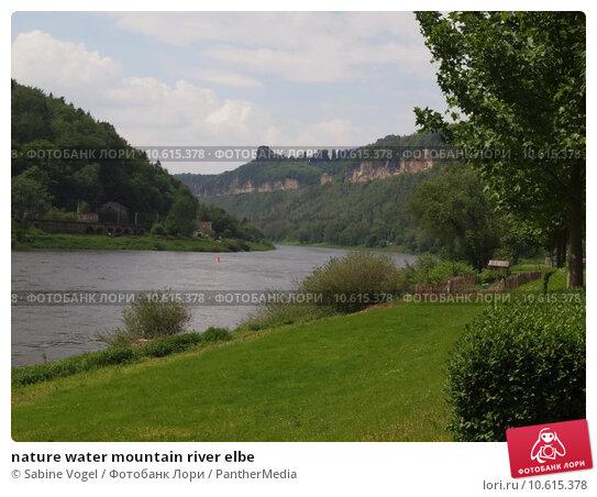 nature water mountain river elbe. Стоковое фото, фотограф Sabine Vogel / PantherMedia / Фотобанк Лори