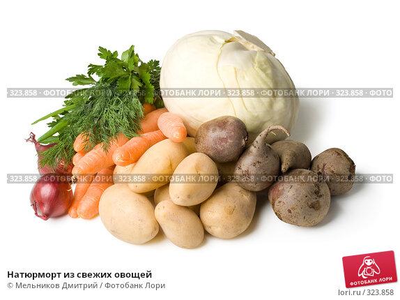 Натюрморт из свежих овощей, фото № 323858, снято 18 мая 2008 г. (c) Мельников Дмитрий / Фотобанк Лори