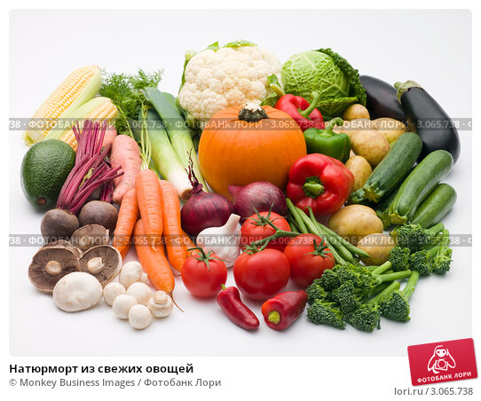 Натюрморт из свежих овощей, фото № 3065738, снято 11 октября 2007 г. (c) Monkey Business Images / Фотобанк Лори