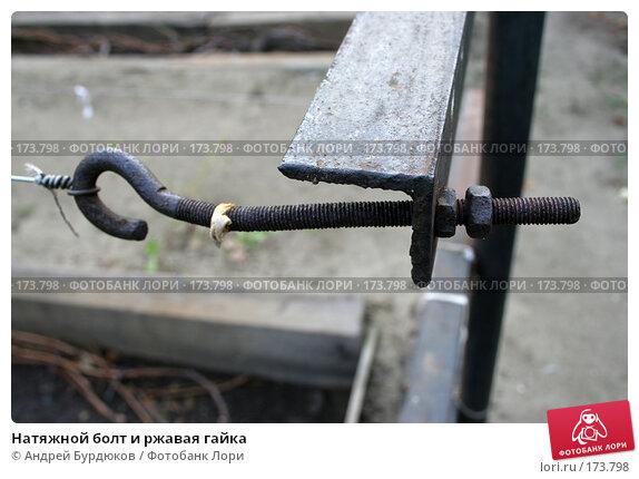 Натяжной болт и ржавая гайка, фото № 173798, снято 13 октября 2007 г. (c) Андрей Бурдюков / Фотобанк Лори