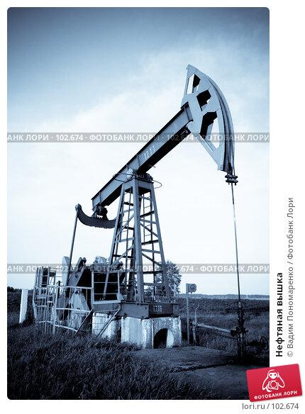 Купить «Нефтяная вышка», фото № 102674, снято 27 апреля 2018 г. (c) Вадим Пономаренко / Фотобанк Лори
