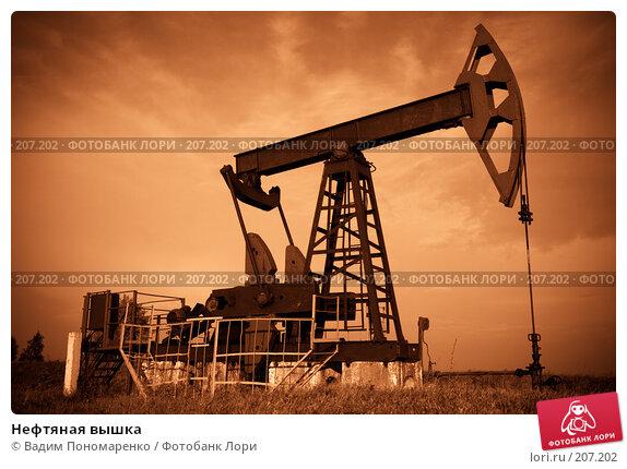 Нефтяная вышка, фото № 207202, снято 15 августа 2007 г. (c) Вадим Пономаренко / Фотобанк Лори