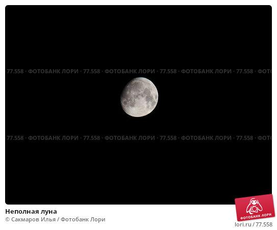 Неполная луна, фото № 77558, снято 26 августа 2007 г. (c) Сакмаров Илья / Фотобанк Лори
