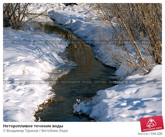 Неторопливое течение воды, фото № 194326, снято 4 января 2008 г. (c) Владимир Тарасов / Фотобанк Лори
