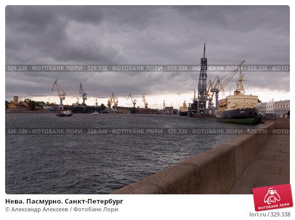 Нева. Пасмурно. Санкт-Петербург, эксклюзивное фото № 329338, снято 18 июня 2008 г. (c) Александр Алексеев / Фотобанк Лори