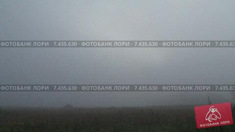 Невероятный туман под Москвой. После какого-то выброса. Timelapse. Скорость х128. Стоковое видео, видеограф Mike The / Фотобанк Лори