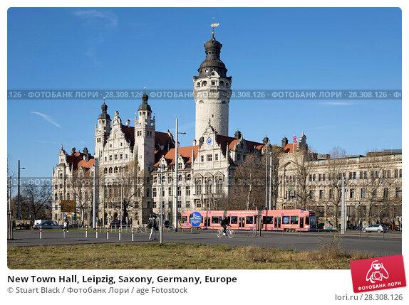 Купить «New Town Hall, Leipzig, Saxony, Germany, Europe», фото № 28308126, снято 7 декабря 2017 г. (c) age Fotostock / Фотобанк Лори