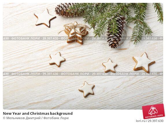 Купить «New Year and Christmas background», фото № 29397630, снято 4 ноября 2018 г. (c) Мельников Дмитрий / Фотобанк Лори