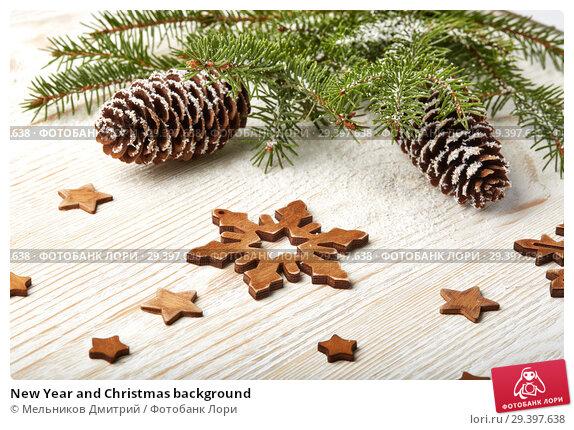 Купить «New Year and Christmas background», фото № 29397638, снято 4 ноября 2018 г. (c) Мельников Дмитрий / Фотобанк Лори