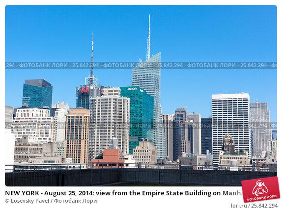 Купить «NEW YORK - August 25, 2014: view from the Empire State Building on Manhattan», фото № 25842294, снято 25 августа 2014 г. (c) Losevsky Pavel / Фотобанк Лори