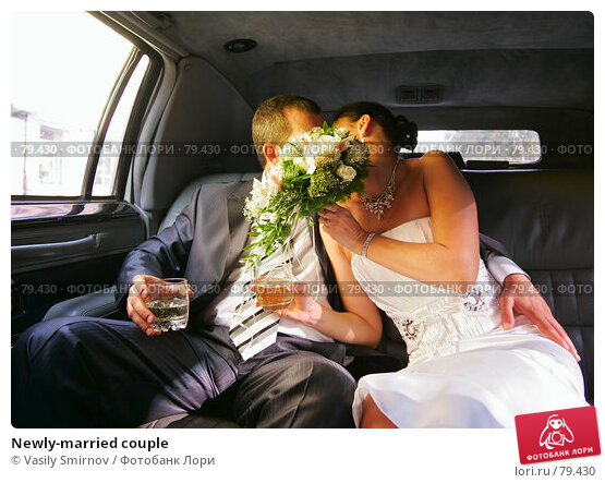 Купить «Newly-married couple», фото № 79430, снято 25 августа 2007 г. (c) Vasily Smirnov / Фотобанк Лори