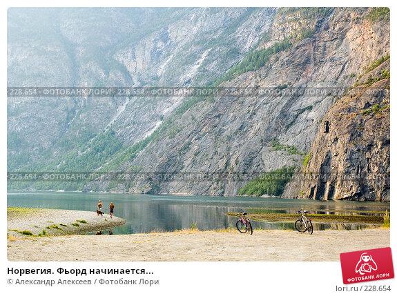 Норвегия. Фьорд начинается..., эксклюзивное фото № 228654, снято 30 июля 2006 г. (c) Александр Алексеев / Фотобанк Лори