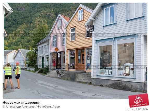 Норвежская деревня, эксклюзивное фото № 228666, снято 30 июля 2006 г. (c) Александр Алексеев / Фотобанк Лори