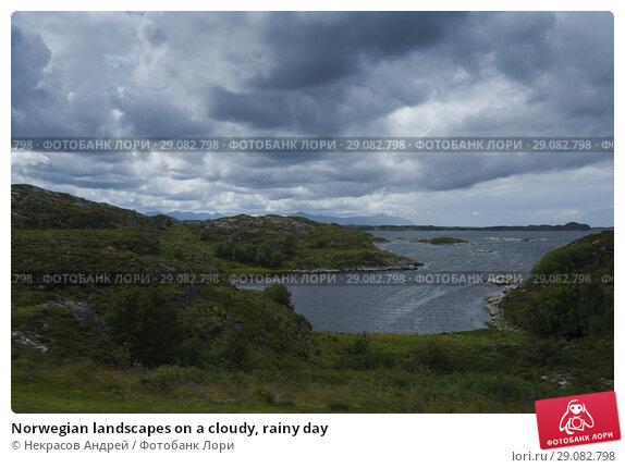Купить «Norwegian landscapes on a cloudy, rainy day», фото № 29082798, снято 11 августа 2018 г. (c) Некрасов Андрей / Фотобанк Лори