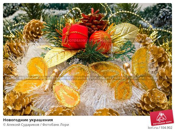 Новогодние украшения, фото № 104902, снято 17 августа 2017 г. (c) Алексей Судариков / Фотобанк Лори