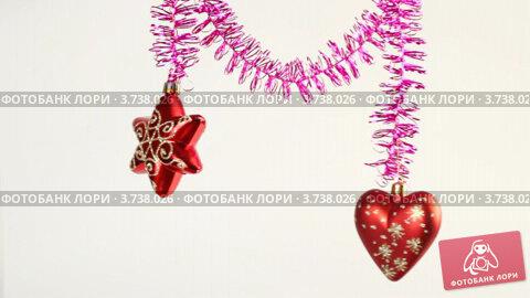 Купить «Новогодние украшения», видеоролик № 3738026, снято 17 июля 2011 г. (c) Losevsky Pavel / Фотобанк Лори