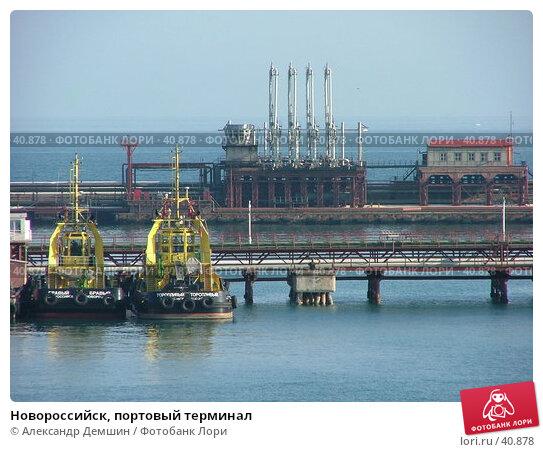 Купить «Новороссийск, портовый терминал», фото № 40878, снято 26 июня 2004 г. (c) Александр Демшин / Фотобанк Лори