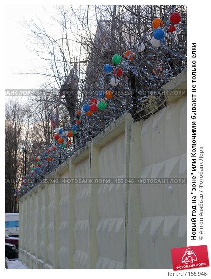 """Купить «Новый год на """"зоне"""" или Колючими бывают не только елки», фото № 155946, снято 21 декабря 2007 г. (c) Антон Алябьев / Фотобанк Лори"""