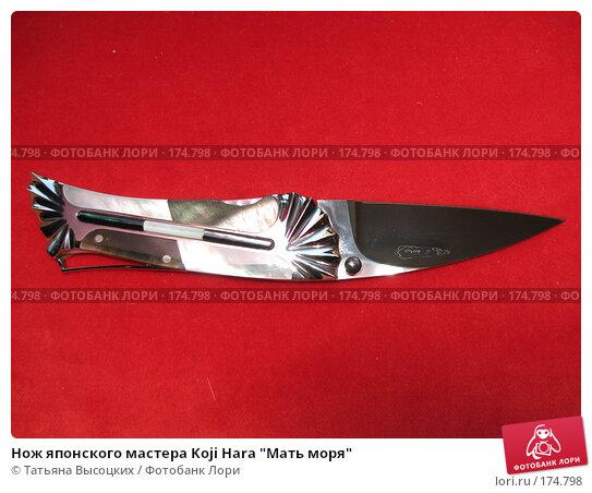 """Нож японского мастера Koji Hara """"Мать моря"""", фото № 174798, снято 5 января 2008 г. (c) Татьяна Высоцких / Фотобанк Лори"""