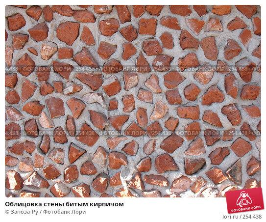 Облицовка стены битым кирпичом, фото № 254438, снято 12 апреля 2008 г. (c) Заноза-Ру / Фотобанк Лори