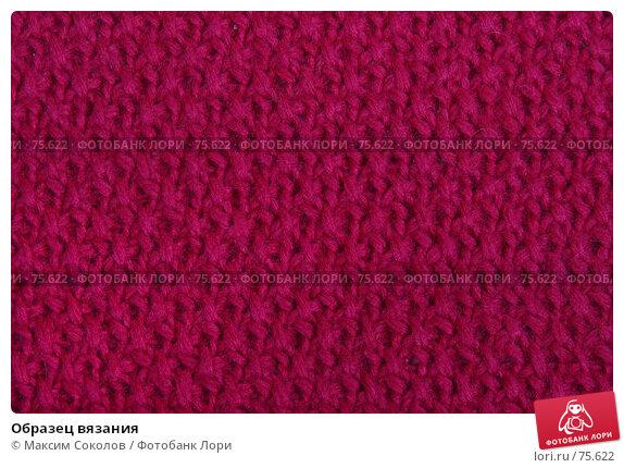 Образец вязания, фото № 75622, снято 26 июня 2007 г. (c) Максим Соколов / Фотобанк Лори