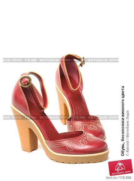 Купить «Обувь, босоножки винного цвета», фото № 115506, снято 7 марта 2007 г. (c) Astroid / Фотобанк Лори