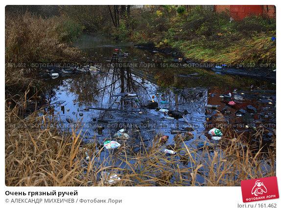 Купить «Очень грязный ручей», фото № 161462, снято 27 октября 2007 г. (c) АЛЕКСАНДР МИХЕИЧЕВ / Фотобанк Лори
