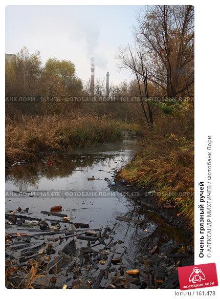 Очень грязный ручей, фото № 161478, снято 27 октября 2007 г. (c) АЛЕКСАНДР МИХЕИЧЕВ / Фотобанк Лори