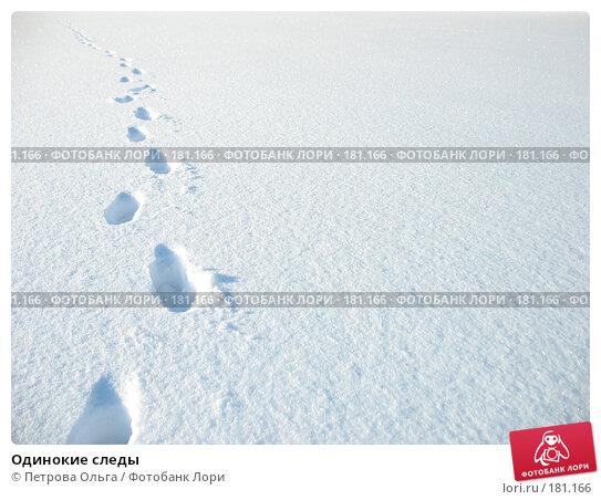 Одинокие следы, фото № 181166, снято 15 декабря 2007 г. (c) Петрова Ольга / Фотобанк Лори