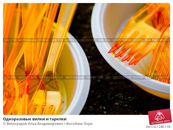 Купить «Одноразовые вилки и тарелки», фото № 240118, снято 21 октября 2007 г. (c) Виноградов Илья Владимирович / Фотобанк Лори
