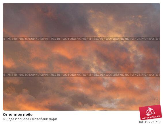 Огненное небо, фото № 75710, снято 17 июля 2007 г. (c) Лада Иванова / Фотобанк Лори