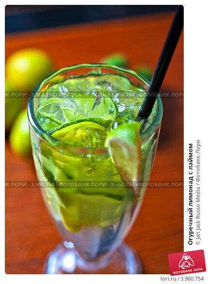 Купить «Огуречный лимонад с лаймом», фото № 3960754, снято 20 сентября 2012 г. (c) Jan Jack Russo Media / Фотобанк Лори