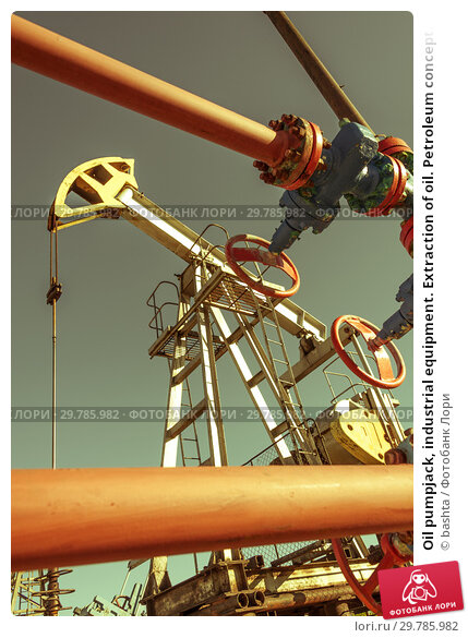 Купить «Oil pumpjack, industrial equipment. Extraction of oil. Petroleum concept.», фото № 29785982, снято 7 июля 2017 г. (c) bashta / Фотобанк Лори
